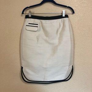 J. Crew Size 0 Tuxedo Pencil Skirt White